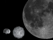 4 Vesta, 1 Ceres, Earth's Moon.