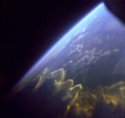 Earth's atmosphere from space.