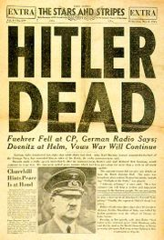 Hitler's death on stars and Stripes.