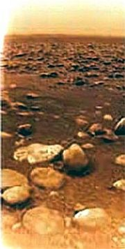 Titan's surface.