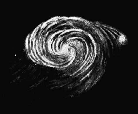 Galaxy by Lord Rosse in 1845.