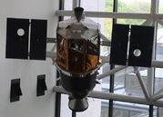 satellite in a museum.