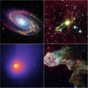 Space telescope images.
