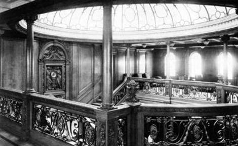 Titanic's grand staircase.