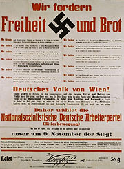 Nazi party election poster.