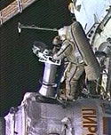 Spacewalking Cosmonauts