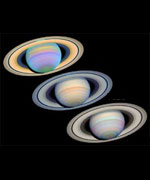 Three Views of Saturn.