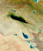 Iraq Oil Fire Seen From Space.