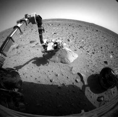 Spirit rover sending pictures back to Earth.