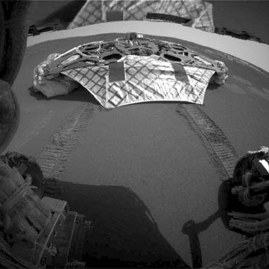 Opportunity Rolls Off the Lander.