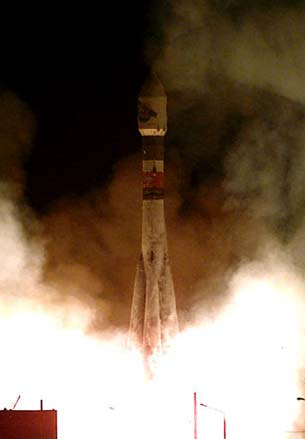 Russian Soyuz rocket.