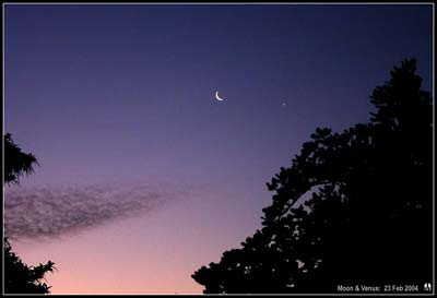 Venus and the Moon.