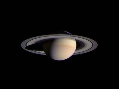 Saturn growing larger.