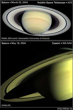 Saturn From Hubble Space Telescope.