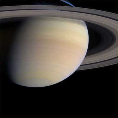 Saturn and its moons.