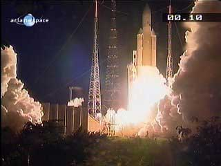 Anik F2 Launched on Ariane 5.