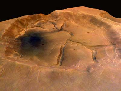 crater on Mars.