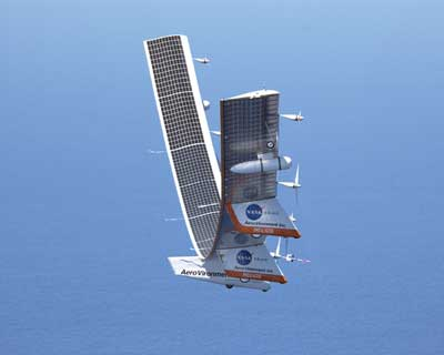 solar-powered aircraft.