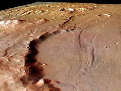 impact crater on Mars.