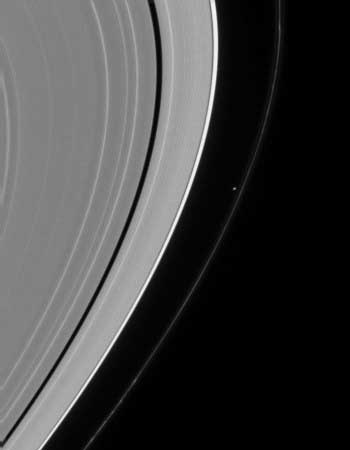 Saturn's tiny Moon Prometheus.