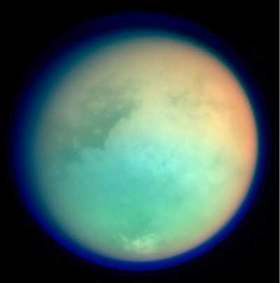 Titan in ultraviolet.