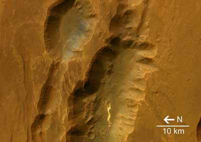 Mars canyon system.