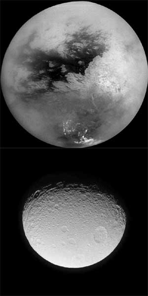 Saturn's moons.