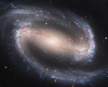 Barred Spiral Galaxy.