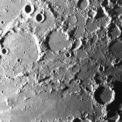 SMART-1 first close-up pictures of the Moon's surface Image credit: ESA.