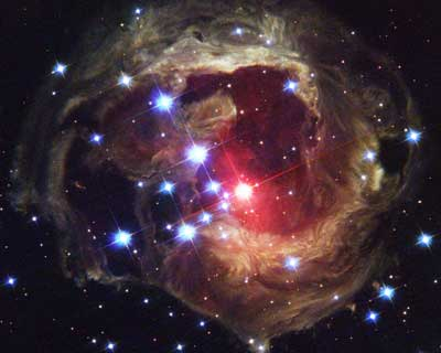 Hubble Space Telescope's image of Star V838.