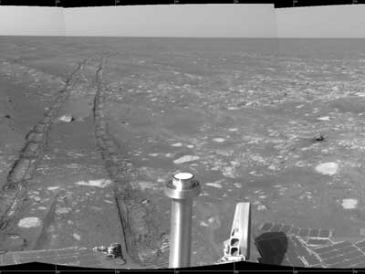 Opportunity's Front Wheel.