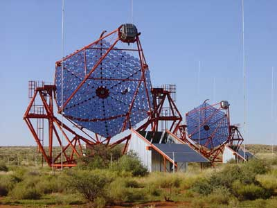 Telescopes in Namibia.