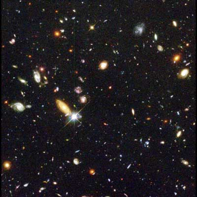 Hubble deep field view.