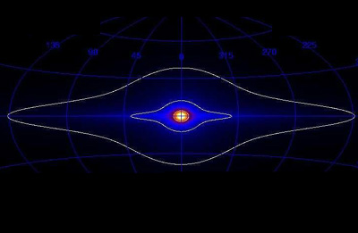 All-sky map of gamma-ray line emission.