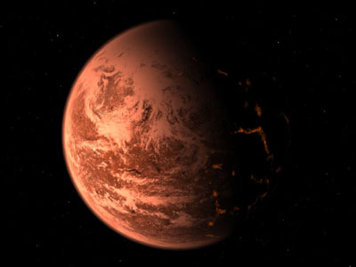 rocky planet around the M dwarf Gliese 876.