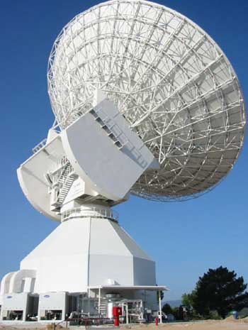 European Space Agency's Cebreros radio telescope.