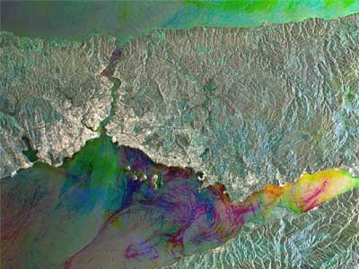 Radar satellite view of Istanbul.