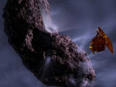 Deep Impact with Comet Tempel 1.
