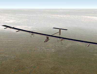 Solar impulse solar powered airplane.