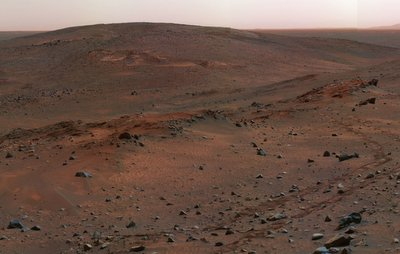 Spirit's view of Mars.