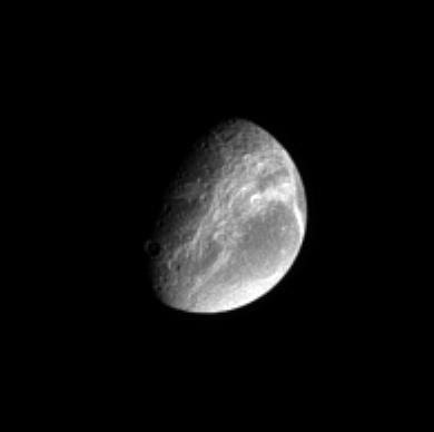 Saturn's Moon Dione.