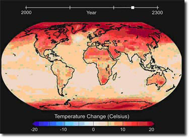 global temperature rise.