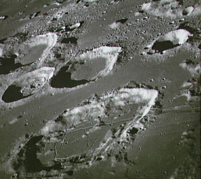 Lunar surface.
