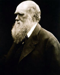 portrait of Darwin.