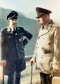 Hitler and Himmler.