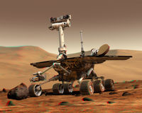 Rover on Mars.
