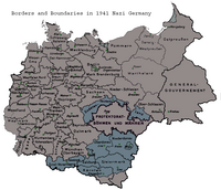 Nazi Germany regions.