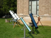 Telescopes at Perkins Observatory.
