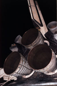Space Shuttle Main Engine cluster.