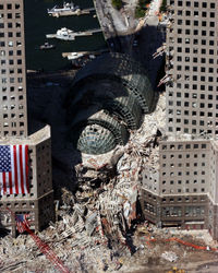 World Trade Center twin towers.